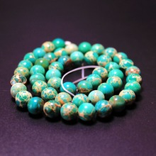 Buy AAA+ light green Imperial Turquoises Natural Stone Beads Jewelry Making DIY Bracelet 4mm 6mm 8mm 10mm 12mm strand 16'' for $3.45 in AliExpress store
