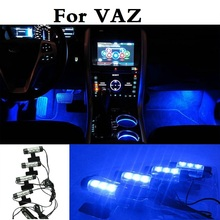 Buy 4in1 Car Interior LED Atmosphere Lights Decoration Lamp Blue VAZ 2104 2109 2111 2121 EL Lada Kalina Largus Priora Revolution for $10.26 in AliExpress store