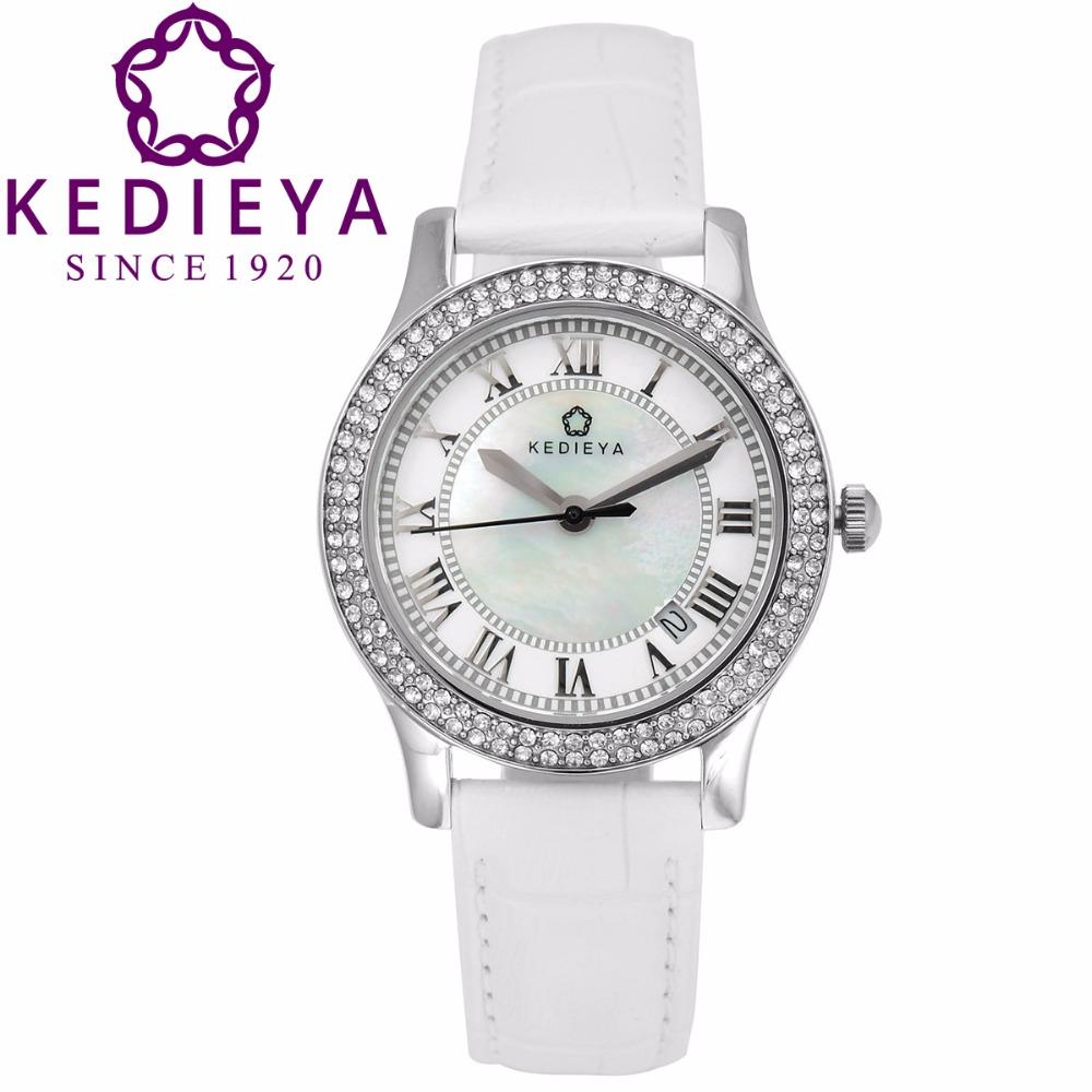luxury watches women leather straps rhinestone quartz watch designer