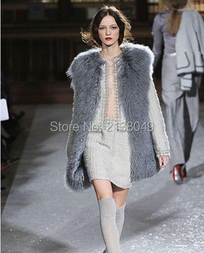 Fv044 Pluz размер сшитое монголия овец шубы / натуральный мех женщины мода пальто