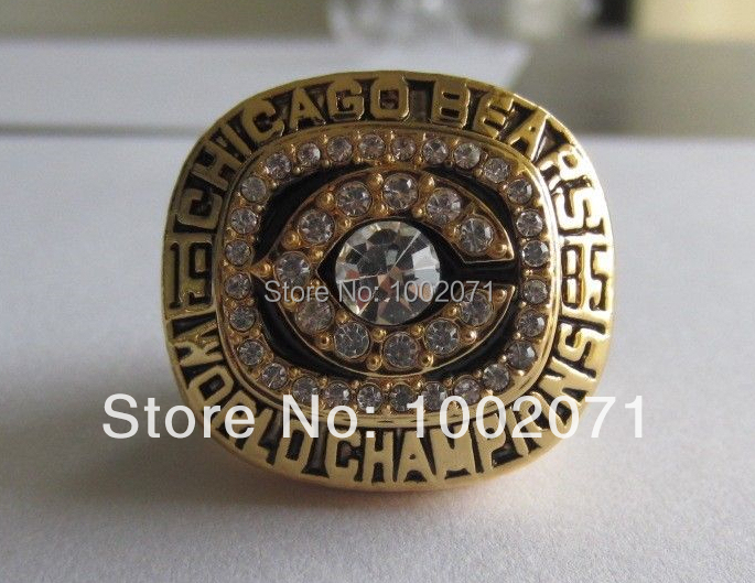 NFL Replica 1985 Chicago Bears Super Bowl Football Championship Rings Size 11 Best Fan Christmas Gift for Men Jewelry(China (Mainland))