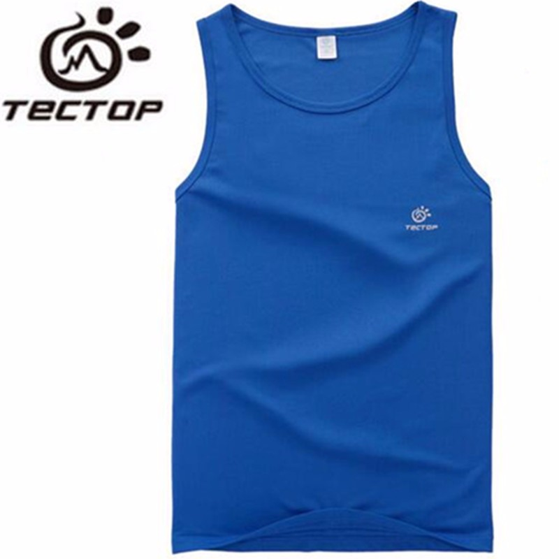 TECTOP Summer Sports Outdoor Fast Drying Shirts Vest Waistcoat Men Camping Hiking Breathable Perspire Sleeveless Shirt Men