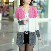 New Winter Spring Cardigans 2015 Women Fashion Mohair Cardigans Casual Tricotado Long Cardigan Women Sweaters For Ladies(China (Mainland))