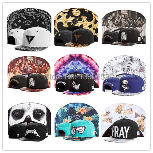 2015 Cayler Sons Snapback bone aba reta cotton baseball snapback bones for men women sports hip hop cap gorras planas 288 styles(China (Mainland))
