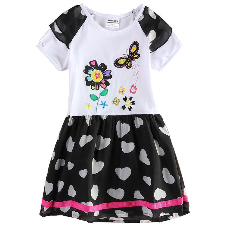 nova kids girl dress baby clothes wear children clothing flower dresses princess party summer style