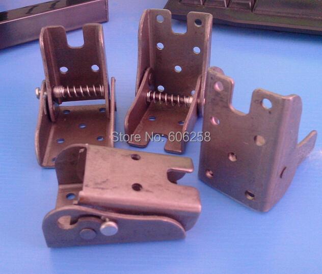 Pastoral sofa Legs Folded Back Support / fishing Stool / Folding Metal Parts 90 self-locking Hinge 4PCS(China (Mainland))