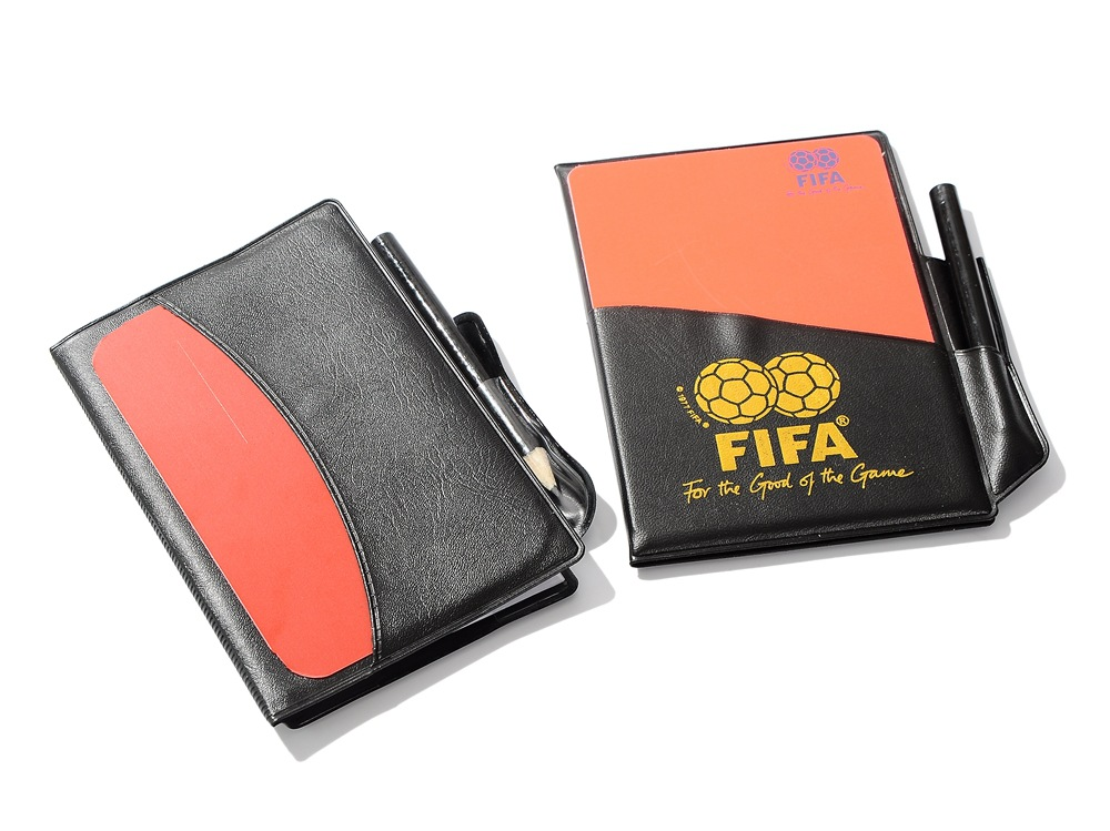 Judge card Soccer Referee wallet plastic cards with pencil Football Red Card and Yellow Card football referee supplies(China (Mainland))