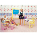 Miniature Furnishings Trend Eating Room for Barbie Doll Home Basic Toys for Lady Free Transport