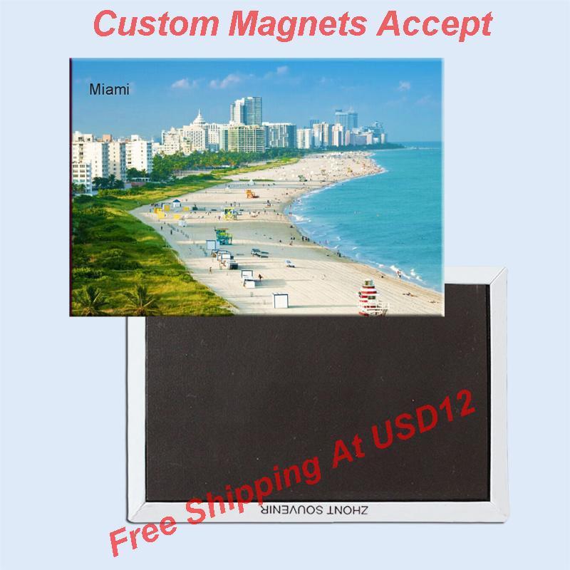 USA Travel Magnets Gifts Home Decor Stickers,Florida Miami Beach Souvenir Fridge Magnet 5676(China (Mainland))