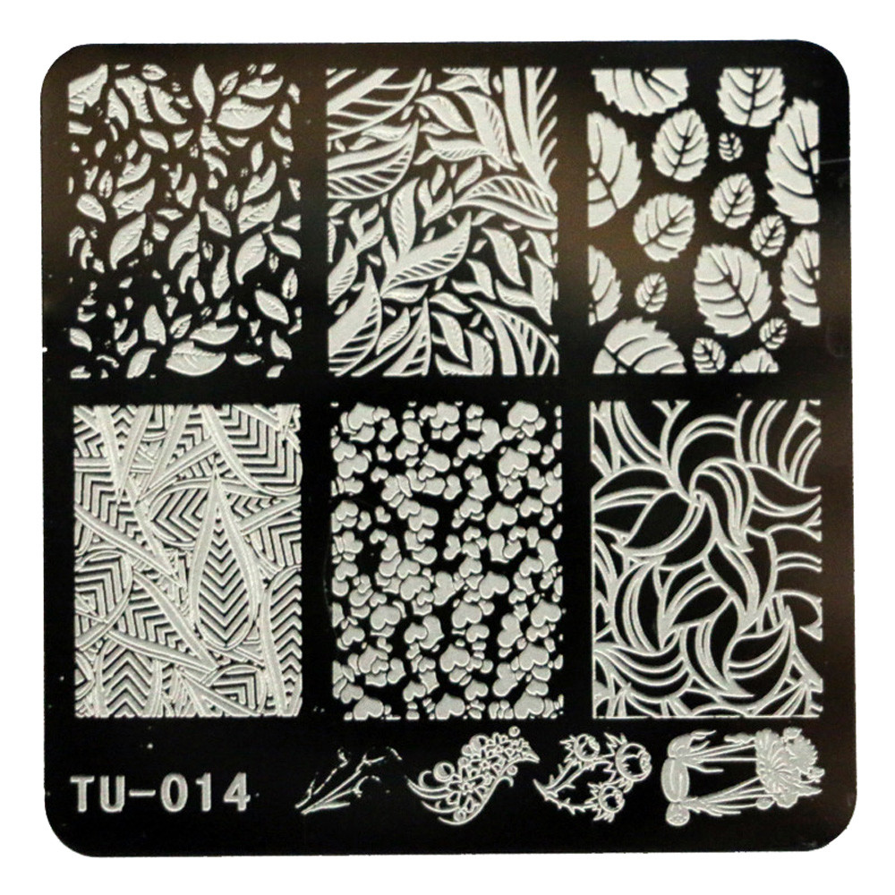 Hot Sale DIY Nail Art Leaf Image Stamp Stamping Plates Manicure Template Stainless Steel Nail Polish Tools Overmal New 2016(China (Mainland))