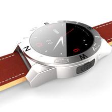 Bluetooth Smartwatch смарт часы N10A часы роскошный кожаный ремешок с шагомер громкой компас для iOS android-коммуникатор