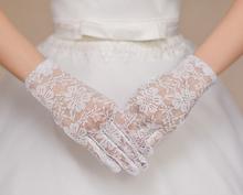 Nueva llegada Applique nupcial del cordón de la boda de accesorios Tulle barato guantes cortos de la boda accesorio nupcial envío gratis(China (Mainland))