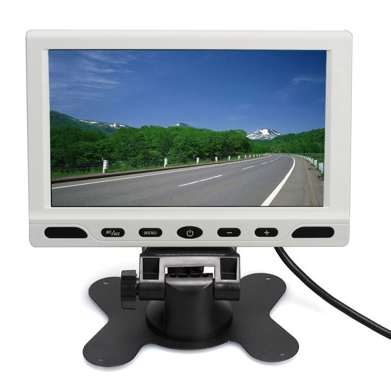 """Free shipping!HD 800*480P 7"""" Car Bus MP5 Realview Monitor 2ch Video Audio Input Remote Control(China (Mainland))"""