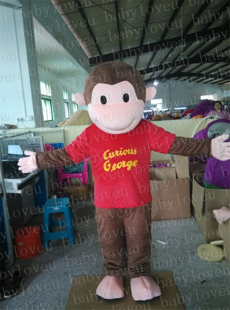 Curious George monkey mascot costume halloween costumes party costume dinosaurs fancy dress christmas kids gift surprise