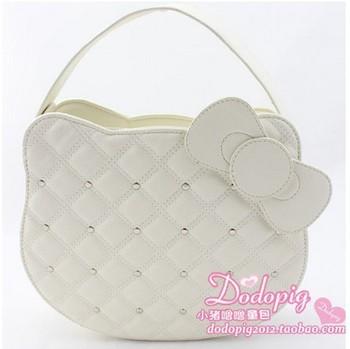 2013 Hello kitty handbag women messenger bag Hello kitty products purses tote Girl party bag Chain kids shoulder bag Wholesale