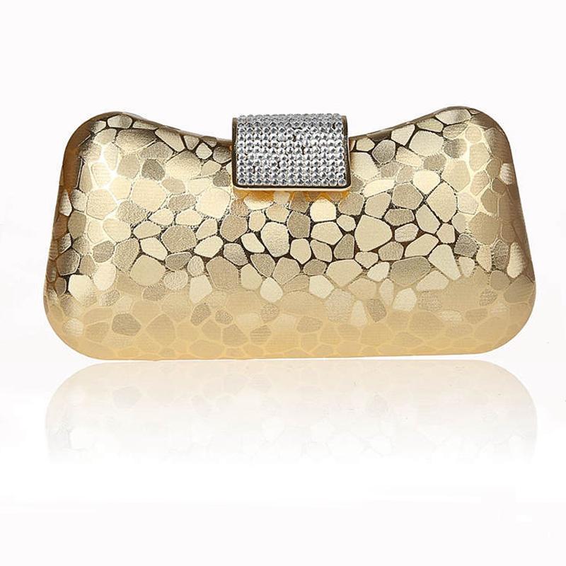 New 2016 Vintage Silver Clutch Bag Glitter Evening Bags Wedding Bride Purse Night Club Bag Clutches black red ST1829C(China (Mainland))