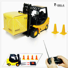 1:20 Engineering forklift,Export  world 6 channel mini remote control car,Miniature crane,Electric wireless ,free shipping(China (Mainland))