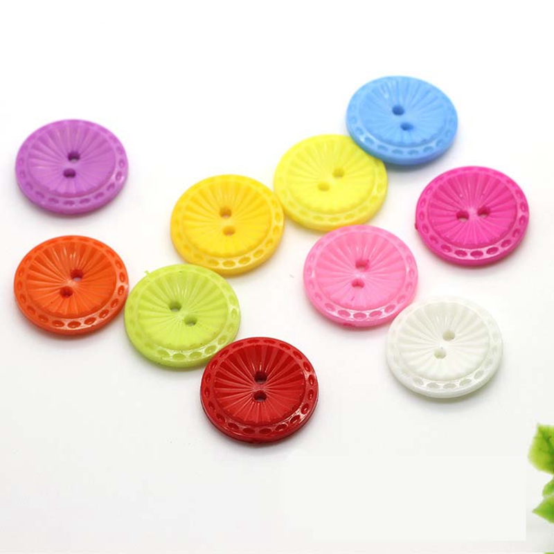 Button clasp wholesale children 's clothes colored plastic decorative buckle 20mm sewing supplies accessories for crafts(China (Mainland))