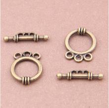 20set/lot Wholesale Fashion OT Clasps Antique Bronze Toggle Hook Clasps DIY Jewelry Findings