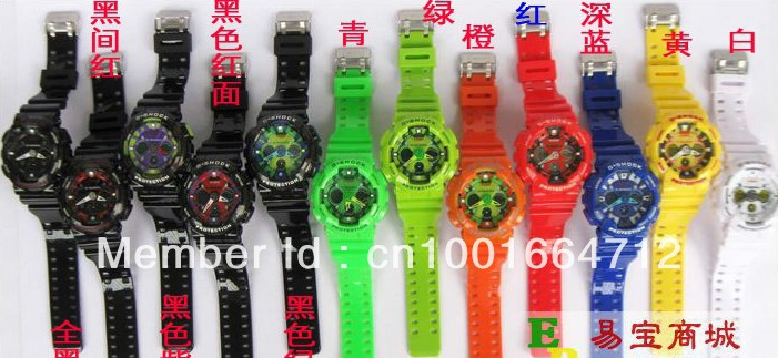 Free shipping Newest Latest model watch GA100 sports digital ga120 watch wholesale price free shipping