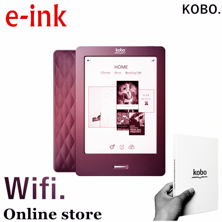 Kobo,6 inch, e-ink, ebook reader, touch screen,e book ,not glo, wifi,ereader,ink,books free shipping ,also have kindle for sale(China (Mainland))