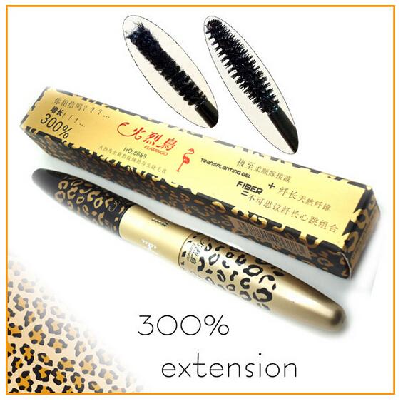Maquiagem New 3D Fiber Leopard Lash Extension Mascara Long Curling Eyelash Cosmetic Waterproof Eye Makeup Beauty(China (Mainland))