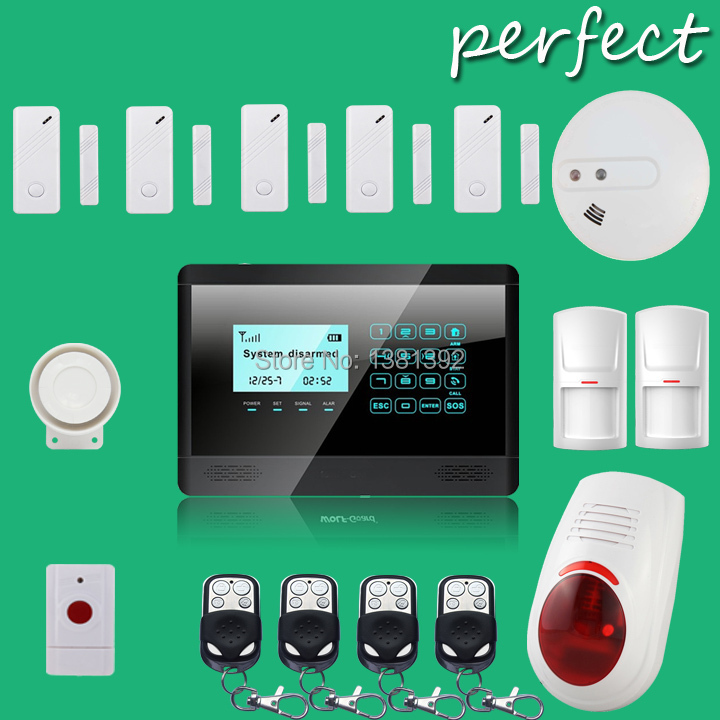 Free Shipping APP operated touch screen GSM burglar alarm system with backup battery used for residential homes and business(China (Mainland))