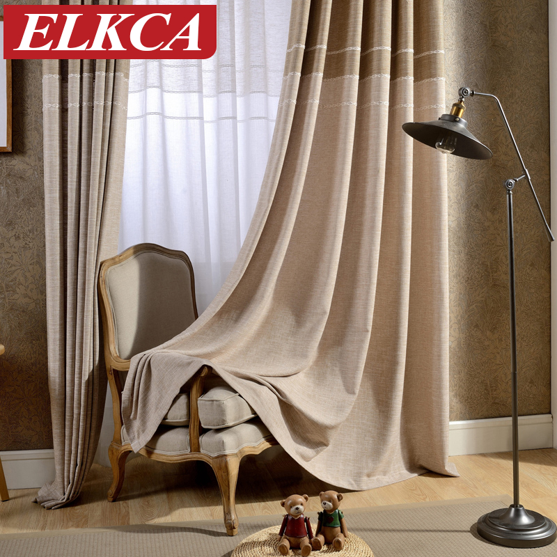 3 Piece Faux Cotton Espresso Brown Kitchen Window Curtain: Japan Style Grey/Coffee Jacquard Thick Faux Linen Curtains
