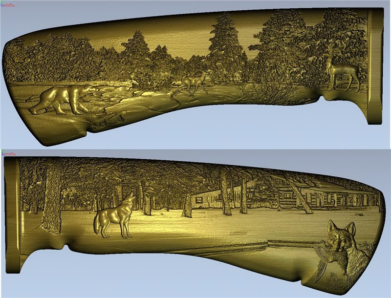 3D model for 3D relief cnc in STL format knife_handle-5(China (Mainland))