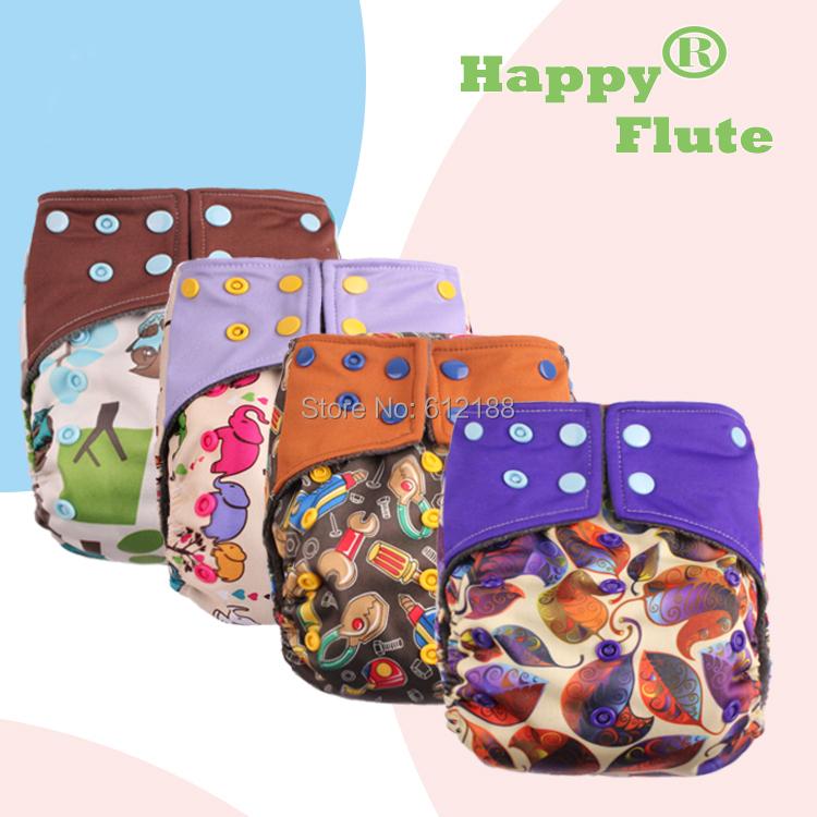 2015 NEW DESIGN! HappyFlute 1 pcs bamboo charcoal AIO diaper free shipping(China (Mainland))