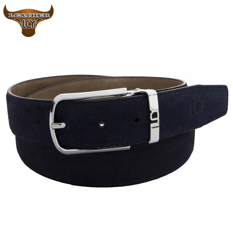 [LCY] Mens Belts Luxury 100% Real Leather Belts for Male 2016 Brand Desiger Metal Pin Buckle Suede Leather Belt cintos 350326(China (Mainland))
