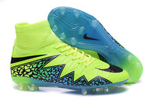 2015 Authentic Men's SoccEr Cleats BoOts 100% Original FootbAll BoOts Green Blue Black With Original Box Size 39-45(China (Mainland))