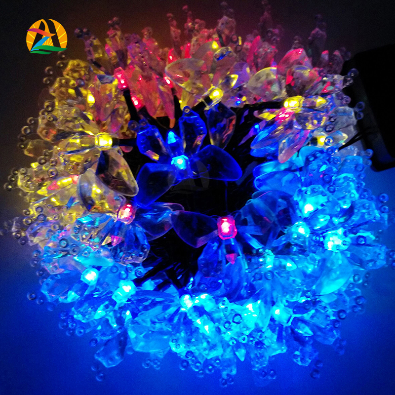 2016 Energy Saving Solar Fairy LED String Light Novelty Butterfly Outdoor Festival Party Garden Decoration Lights 4.8M(China (Mainland))
