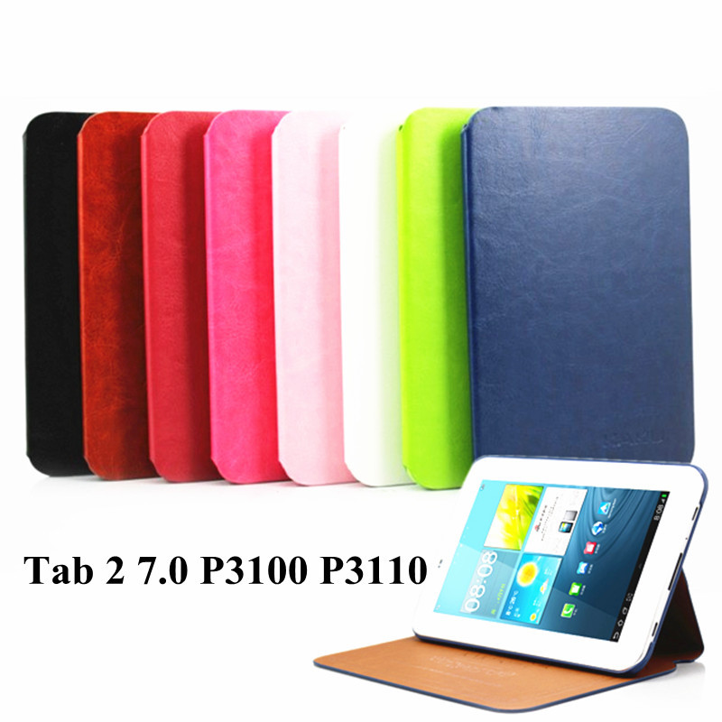 Luxury PU Leather Stand Case Cover for Samsung Galaxy Tab 2 7.0 P3100 P3110 P3113 Smart Flip Case Tablet Shell Cover 7 Inch(China (Mainland))