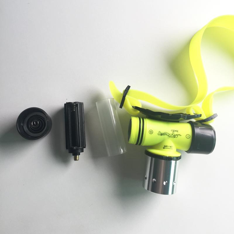 Diving Headlight CREE XML T6 LED 2000lm Waterpoof Head Lantern Headlamp Underwater Lamp Swimming Flash Lanterna Use 18650 AAA(China (Mainland))