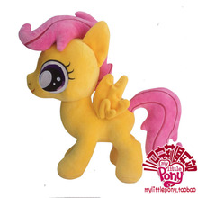 cute plush creative yellow horse toy stuffed Smart lulu toy doll gift toy about 33cm