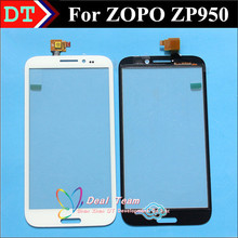 100% original Touch Screen Digitizer TP For ZOPO ZP950 Smart Cellphone Touch Panel White Color(China (Mainland))