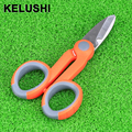 KELUSHI Fiber Optic Kevlar Cutter Kavlar Scissor Stripper fiber optic pigtail jumper tools kevlar slip resistant