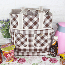 Buy Big Capacity Portable Insulated Canvas lunch Bag Thermal Food Picnic Lunch Bags Women kids Men Cooler Lunch Box Bag for $10.93 in AliExpress store
