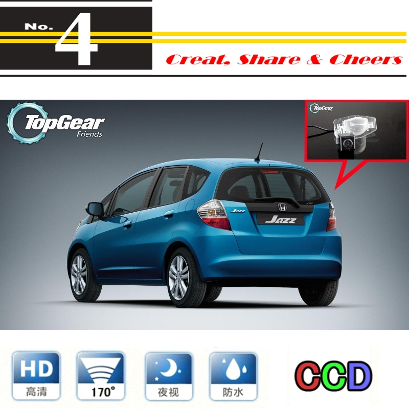 Car Camera For Honda Jazz 5D 2002~2013 High Quality Rear View Back Up Camera For Top Gear Fans Use | CCD + RCA<br><br>Aliexpress