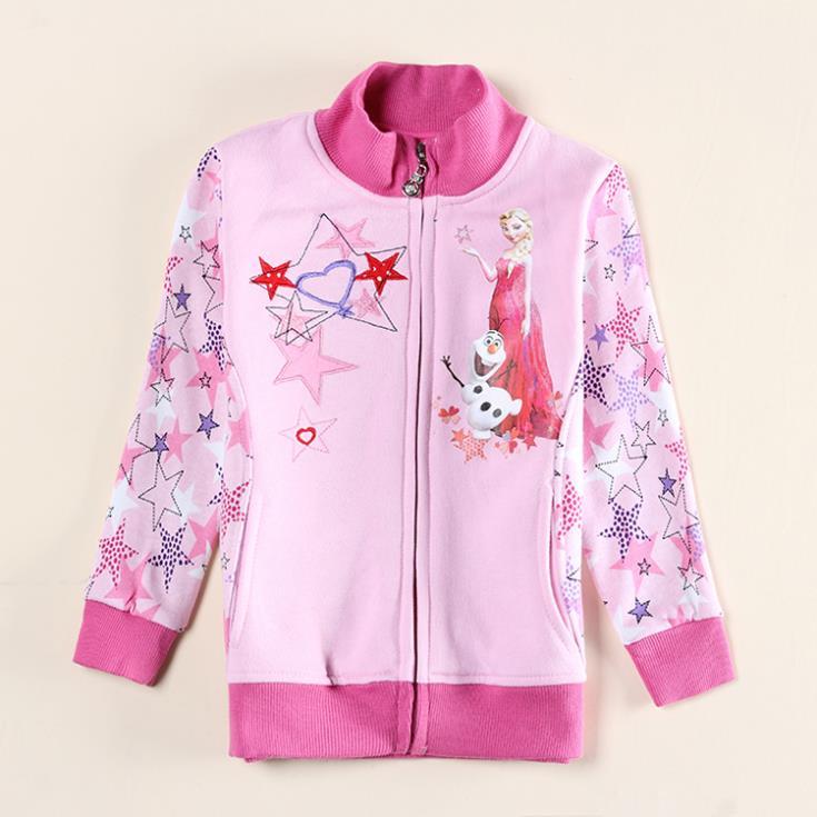 Froze clothe girl jacket children outerwear nova brand kids wear active long sleeve elsa coat in spring/ autumn for baby F5421D<br><br>Aliexpress