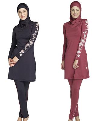 Shipping Free  S-4XL 2016 new swimsuit Ms. Conservative Muslim women swimming suit Saudi Arabia  Islamic swimsuit beach swimwear<br><br>Aliexpress