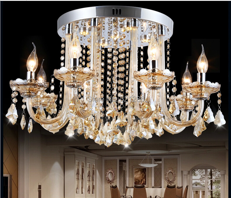Fashion luxury candle ceiling light crystal ceiling light fashion crystal lamp<br><br>Aliexpress