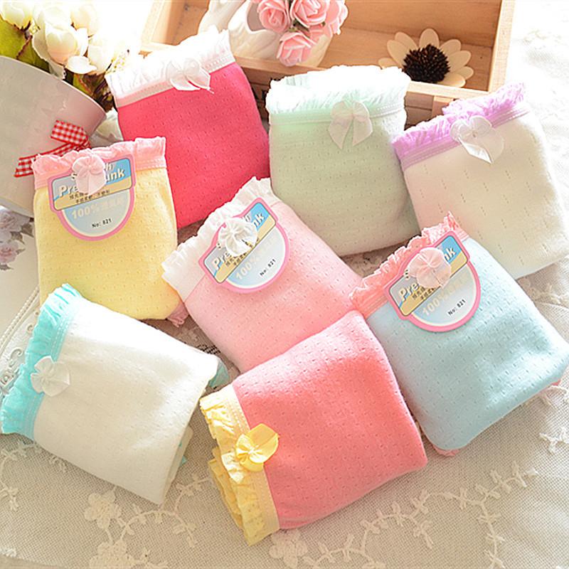 2015 Brand Underwear Women Calcinha Cute Bow Tanga Comfort Cotton Women Briefs Sexy Soft Breathable Cotton Lace Panties 5NK015(China (Mainland))