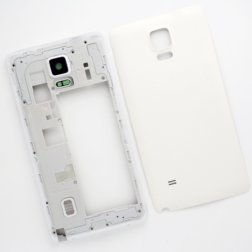 Original Full Housing Case Samsung Galaxy note 4 N910 N910F Replacement Middle Frame bezel & Battery door cover - Cell Phone Repair store