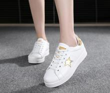 2016 New Women's Shoes Ladies Stree Fashion All White star Casual Runner shoes for woman zapatillas deportivas mujer Y26