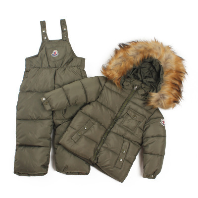 2014 children clothing set sets a warm winter jacket suit baby boys and girls thick coat jacket + jumpsuit kids xx012(China (Mainland))