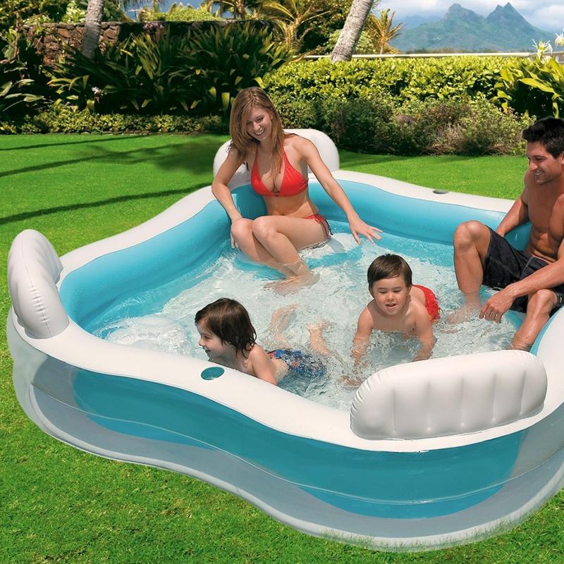 Achetez en gros famille intex piscine en ligne des grossistes famille intex - Piscine gonflable carre ...