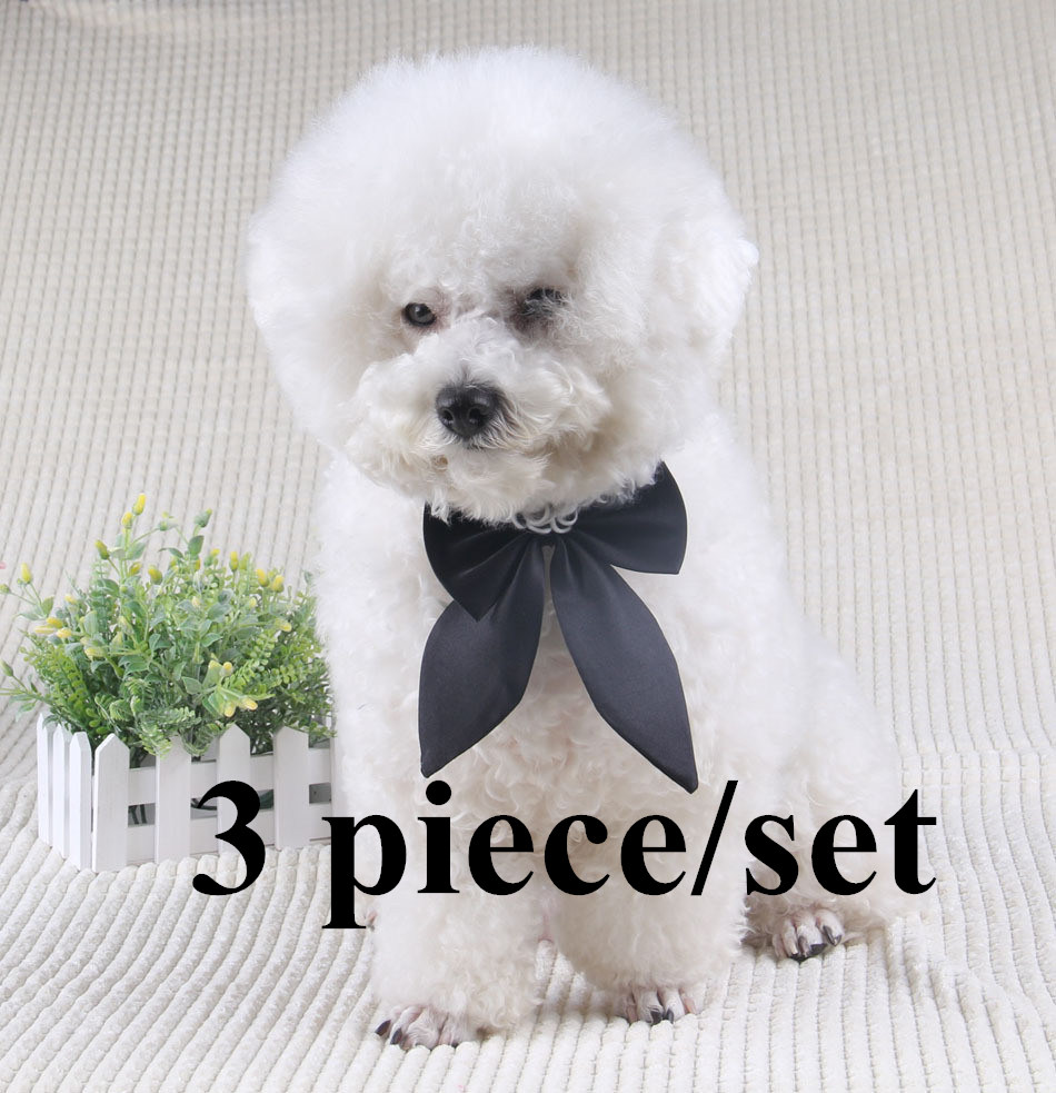 3 piece/set Dog Accessories Necktie Dog and Cat Neck Tie wing style pet tie bow tie Polyester Material tie for dogs&pet. PY241(China (Mainland))