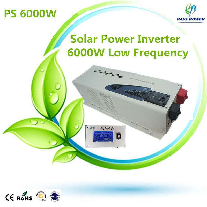 2016 low frequency power inverter 6000w inverter 24vdc to 220vac transformer inverter off-grid pure sine waveform(China (Mainland))